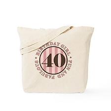 Fun & Fabulous 40th Birthday Tote Bag