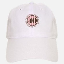 Fun & Fabulous 40th Birthday Baseball Baseball Cap