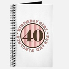 Fun & Fabulous 40th Birthday Journal