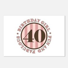 Fun & Fabulous 40th Birthday Postcards (Package of