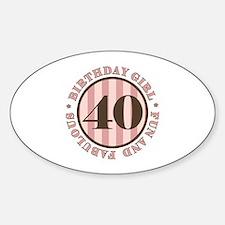 Fun & Fabulous 40th Birthday Decal