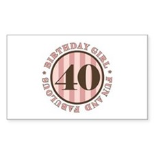 Fun & Fabulous 40th Birthday Decal
