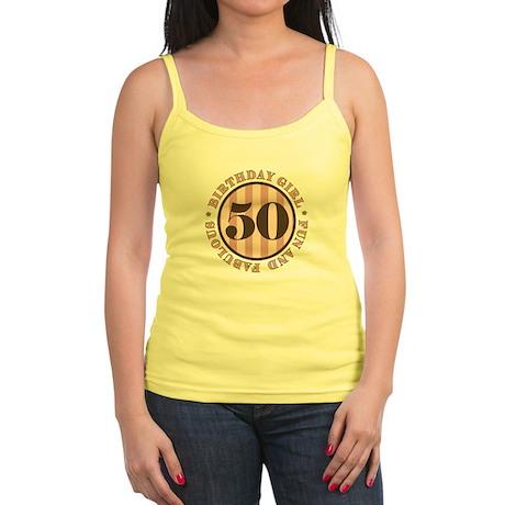 Fun & Fabulous 50th Birthday Jr. Spaghetti Tank