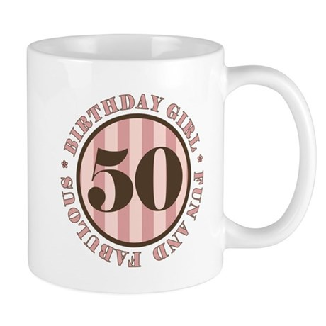 Fun & Fabulous 50th Birthday Mug