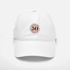 Fun & Fabulous 50th Birthday Baseball Baseball Cap