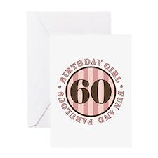 Fun & Fabulous 60th Birthday Greeting Card