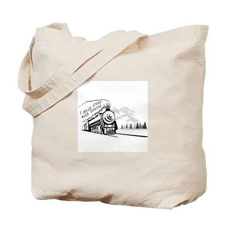 Still Play with Trains Tote Bag