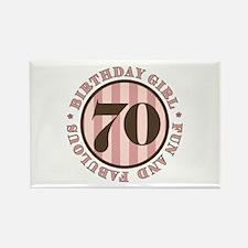 Fun & Fabulous 70th Birthday Rectangle Magnet