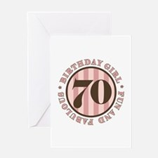 Fun & Fabulous 70th Birthday Greeting Card
