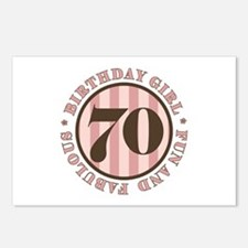 Fun & Fabulous 70th Birthday Postcards (Package of