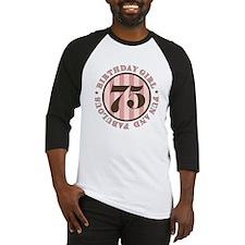 Fun & Fabulous 75th Birthday Baseball Jersey