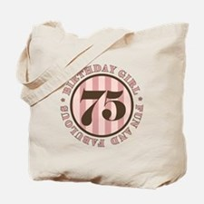 Fun & Fabulous 75th Birthday Tote Bag