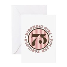 Fun & Fabulous 75th Birthday Greeting Card
