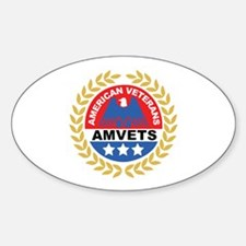 American Veterans Oval Decal