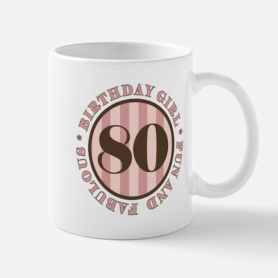 Fun & Fabulous 80th Birthday Mug