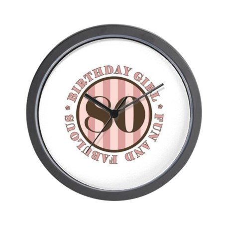 Fun & Fabulous 80th Birthday Wall Clock