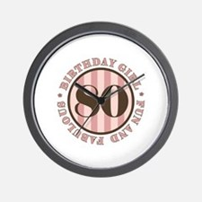 Fun & Fabulous 80th Birthday Wall Clock