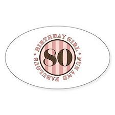 Fun & Fabulous 80th Birthday Decal