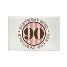 Fun & Fabulous 90th Birthday Rectangle Magnet