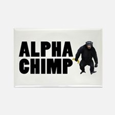 Alpha Chimp Rectangle Magnet