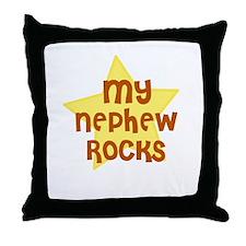 MY NEPHEW ROCKS Throw Pillow