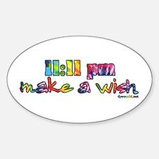 11:11 pm Make A Wish Sticker (Oval)