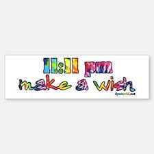 11:11 pm Make A Wish Bumper Bumper Sticker