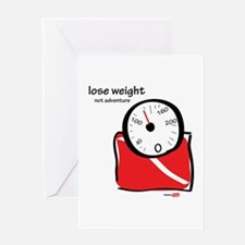 Lose weight Greeting Card