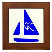 Cute Boating Framed Tile