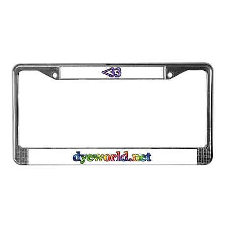 <33 License Plate Frame