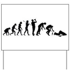Evolution Of Drunk Yard Sign