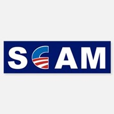 Scam, Anti Obama Sticker (Bumper)