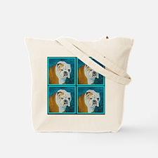 Tote Bag with English Bulldog as your companion
