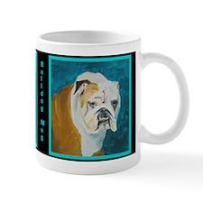 Mug with an English Bulldog's mug on it.