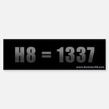 H8=1337 Bumper Bumper Bumper Sticker