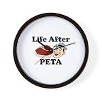 Life After PETA Wall Clock