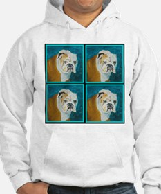 Hoodie featuring English Bulldog