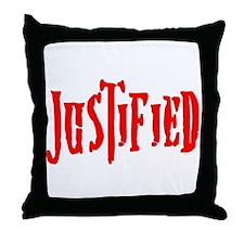 Justified Throw Pillow