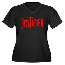 Justified Women's Plus Size V-Neck Dark T-Shirt