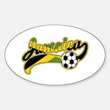 Jamaica Soccer Sticker (Oval)