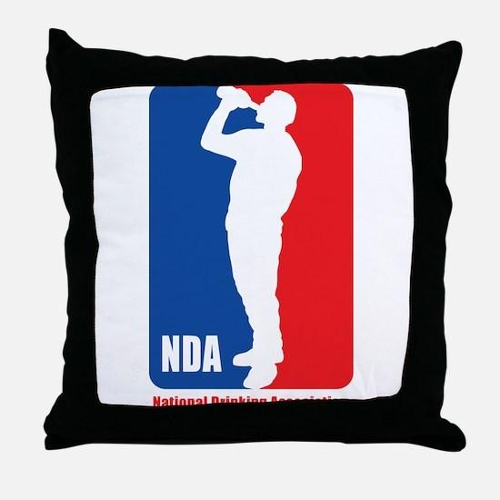 National Drinking Association Throw Pillow