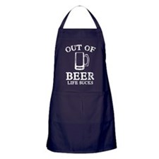 Out Of Beer Apron (dark)