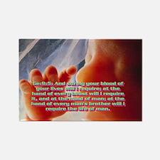 Genesis 9:5 Rectangle Magnet