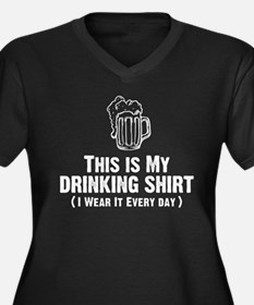 This Is My Drinking Shirt Women's Plus Size V-Neck
