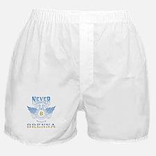 never underestimate the brenna Boxer Shorts