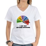 Beyond Awesome Women's V-Neck T-Shirt