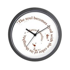 The soul becomes dyed with Wall Clock
