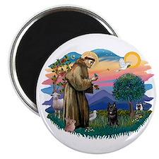 St Francis #2/ Schipperke #4 Magnet