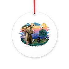 St Francis #2/ Schipperke #4 Ornament (Round)