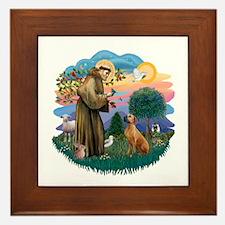 St Francis #2/ R Rback #2 Framed Tile